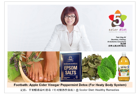 Foot Bath: Apple Cider Vinegar Peppermint Detox (For Heaty Body System)