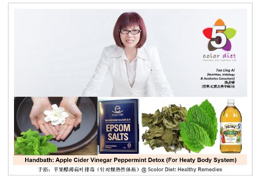 Handbath: Apple Cider Vinegar Peppermint Detox (For Heaty Body System)