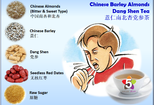 Chinese Barley Almonds Dang Shen Tea